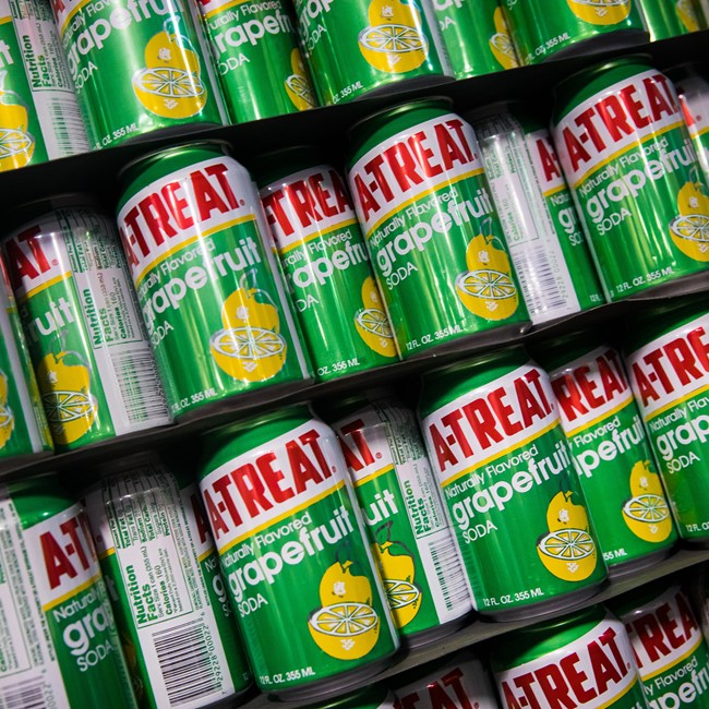 Rows of A-Treat Cans