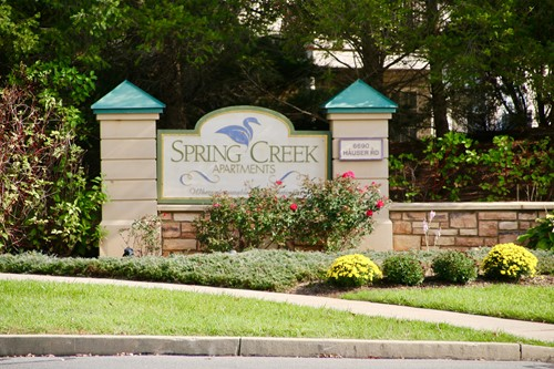 Spring Creek Apartments sign